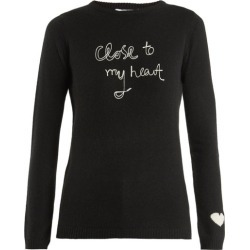 Bella Freud - Close To My Heart Cashmere Sweater - Womens - Black found on MODAPINS from Matches UK for USD $503.23
