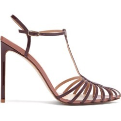 Francesco Russo - Caged Leather Stiletto Sandals - Womens - Burgundy found on MODAPINS from MATCHESFASHION.COM - AU for USD $706.03