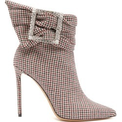 Alexandre Vauthier - Yasmine Crystal-embellished Houndstooth Boots - Womens - Multi found on Bargain Bro UK from Matches UK