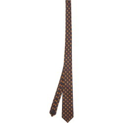 Gucci - Wolf And Gg-crest Silk-faille Tie - Mens - Navy Multi found on Bargain Bro UK from Matches UK