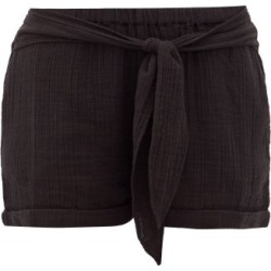 Anaak - Maithili Cotton-gauze Shorts - Womens - Black found on MODAPINS from Matches Global for USD $111.00