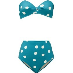 Adriana Degreas - Polka-dot Bandeau Bikini - Womens - Blue Print found on MODAPINS from Matches Global for USD $204.00