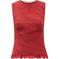 Marine Serre - Moon Salutation Upcycled-carpet Top - Womens - Red found on Bargain Bro India from MATCHESFASHION.COM - AU for $748.23