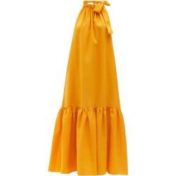 Asceno - Ibiza Tie-halterneck Linen Maxi Dress - Womens - Yellow found on MODAPINS from MATCHESFASHION.COM - AU for USD $446.29