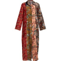 Anjuna - Augustina Panelled Silk-crepe Dress - Womens - Red Multi found on MODAPINS from Matches UK for USD $389.13