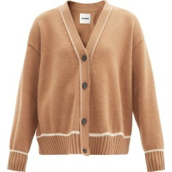 Jil Sander - V-neck Wool-blend Cardigan - Womens - Mid Brown found on Bargain Bro UK from Matches UK