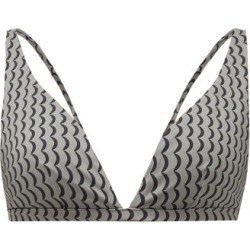 Asceno - Cannes Wave-print Triangle Bikini Top - Womens - Grey Multi found on MODAPINS from MATCHESFASHION.COM - AU for USD $64.09