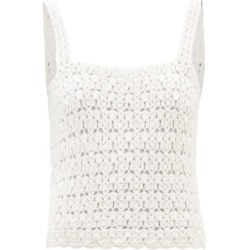 Nili Lotan - Darcey Crocheted Cotton Top - Womens - White found on MODAPINS from Matches UK for USD $552.57