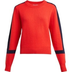 Allude - Contrast Stripe Cashmere Sweater - Womens - Red Navy found on MODAPINS from Matches UK for USD $309.56