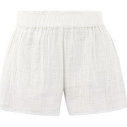 Anaak - Aria Buttoned-side Dip-dyed Cotton Shorts - Womens - White Multi found on MODAPINS from Matches Global for USD $234.00