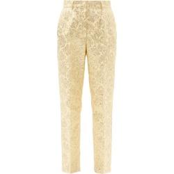 Dolce & Gabbana - Brocade Slim-leg Trousers - Womens - Yellow Gold found on Bargain Bro UK from Matches UK