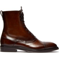 Berluti - Burnished Leather Lace Up Boots - Mens - Brown Multi found on MODAPINS from Matches UK for USD $2049.50
