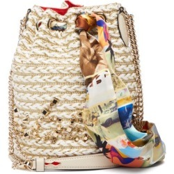 Christian Louboutin - Marie Jane Woven Jute Bucket Bag - Womens - Beige Multi found on Bargain Bro from MATCHESFASHION.COM - AU for USD $1,568.59
