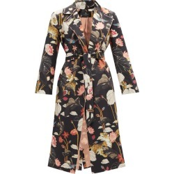 Etro - Zante Floral-print Belted Silk Coat - Womens - Black Multi found on Bargain Bro UK from Matches UK