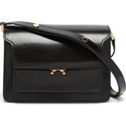 Marni - Trunk Medium Leather Shoulder Bag - Womens - Black found on Bargain Bro from MATCHESFASHION.COM - AU for USD $1,598.14