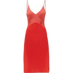 Araks - Cadel Silk-crepe Slip Dress - Womens - Red Multi found on MODAPINS from Matches Global for USD $212.00