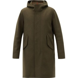 Harris Wharf London - Hooded Felted-wool Parka - Mens - Dark Green found on MODAPINS from MATCHESFASHION.COM - AU for USD $808.86