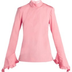 Erdem - Lindsay Cotton Blouse - Womens - Pink found on Bargain Bro India from Matches Global for $297.00