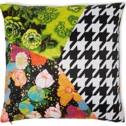 Richard Quinn - Coussin à imprimé floral et pied-de-poule