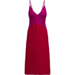 Araks - Cadel Pintuck Silk Crepe De Chine Slip Dress - Womens - Red Multi found on MODAPINS from Matches Global for USD $257.00
