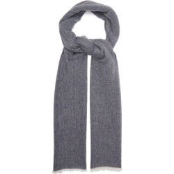 Allude - Fringed Cashmere Scarf - Womens - Navy found on MODAPINS from Matches Global for USD $86.00