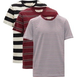 Marni - Pack Of Three Striped Cotton-jersey T-shirts - Mens - Multi found on Bargain Bro UK from Matches UK