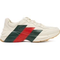 Gucci - Baskets basses en cuir Rhyton found on Bargain Bro Philippines from matchesfashion.com fr for $1012.70