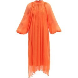 Mara Hoffman - Edmonia Tencel Crinkled-chiffon Dress - Womens - Orange found on MODAPINS from Matches UK for USD $614.90