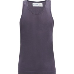 Comme Des Garçons Shirt - Round-neck Cotton-jersey Tank Top - Mens - Navy found on MODAPINS from Matches Global for USD $50.00