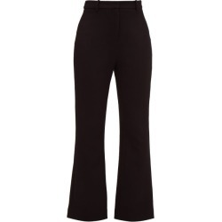 Goat - Joey Wool-crepe Flared Trousers - Womens - Black found on MODAPINS from MATCHESFASHION.COM - AU for USD $215.82