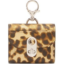 Christian Louboutin - Elisa Leopard-print Leather Airpods Pro Case - Womens - Leopard found on Bargain Bro UK from Matches UK