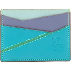 Loewe Paula's Ibiza - Puzzle Logo-debossed Leather Cardholder - Mens - Blue Multi found on Bargain Bro India from Matches Global for $265.00