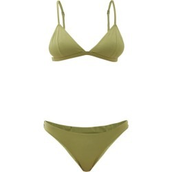 Haight - Bia Triangular Bikini - Womens - Green found on MODAPINS from MATCHESFASHION.COM - AU for USD $43.45