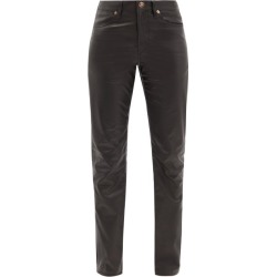 Gabriela Hearst - Charles Leather Slim-leg Trousers - Womens - Black found on Bargain Bro India from MATCHESFASHION.COM - AU for $3483.50