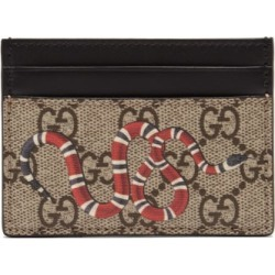 Gucci - GG Supreme Kingsnake Canvas Cardholder - Mens - Brown Multi found on Bargain Bro UK from Matches UK