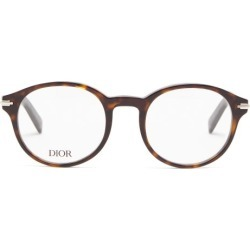 Dior - Diorblacksuit Round Acetate Glasses - Mens - Tortoiseshell found on Bargain Bro UK from Matches UK