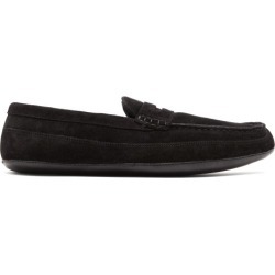Grenson - Sly Suede Penny Slippers - Mens - Black found on MODAPINS from MATCHESFASHION.COM - AU for USD $63.72