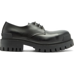 Balenciaga - Strike Tread-sole Leather Derby Shoes - Mens - Black found on Bargain Bro UK from Matches UK