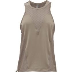 Adidas By Stella Mccartney - Mesh-panelled Training Tank Top - Womens - Brown found on Bargain Bro from Matches UK for £42