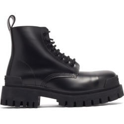 Balenciaga - Strike Leather Combat Boots - Mens - Black found on Bargain Bro UK from Matches UK