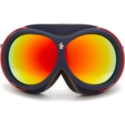 Moncler - Logo-jacquard Strap Ski Goggles - Mens - Navy Multi found on Bargain Bro Philippines from MATCHESFASHION.COM - AU for $793.69