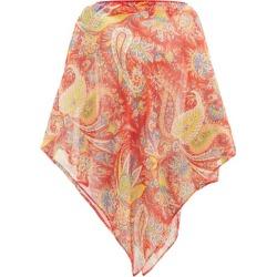 Etro - Paisley-print Silk-chiffon Poncho - Womens - Red Multi found on Bargain Bro UK from Matches UK
