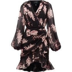 Giambattista Valli - Floral-print Draped Silk-georgette Dress - Womens - Black Multi found on MODAPINS from Matches Global for USD $1392.00