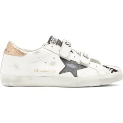 Golden Goose - Old School Velcro-strap Leather Trainers - Womens - White Multi found on Bargain Bro UK from Matches UK