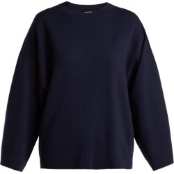 Allude - Wide Sleeve Wool Sweater - Womens - Navy found on MODAPINS from Matches Global for USD $358.00