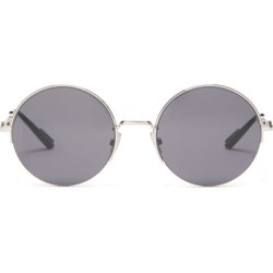 Dior Homme Sunglasses - Half-rim Round Metal Sunglasses - Mens - Silver found on Bargain Bro UK from Matches UK