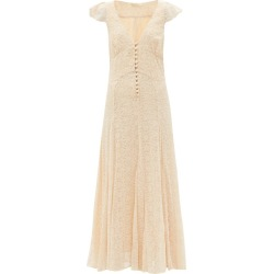 Mes Demoiselles - Joanna Floral-embroidered Maxi Dress - Womens - Ivory found on MODAPINS from MATCHESFASHION.COM - AU for USD $569.62