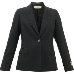 Golden Goose - Venice Logo-patch Single-breasted Wool Blazer - Womens - Black found on Bargain Bro UK from Matches UK