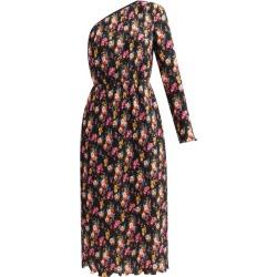 MSGM - One-shoulder Floral-print Plissé Midi Skirt Dress - Womens - White Multi found on Bargain Bro UK from Matches UK