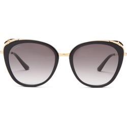Cartier Eyewear - Lunettes de soleil ail de chat en acétate Core Cat found on MODAPINS from matchesfashion.com fr for USD $997.10